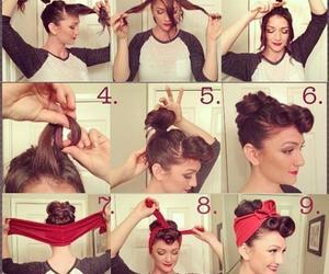 50's, hair, and Pin Up image