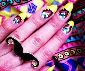 art, moustaches, and summer image