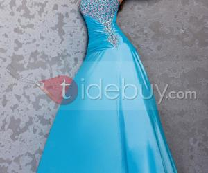 deep, formal prom dress, and deep quiet image