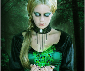 blond, butterfly, and gothic image