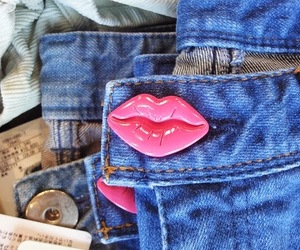 fashion, jeans, and lips image
