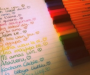 colours and love image