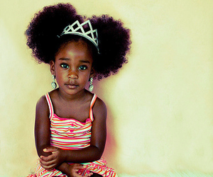 beautiful, black, and little girl image
