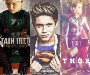 superman, thor, and niall horan image
