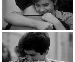 emma watson, logan lerman, and hug image
