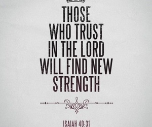god, trust, and strength image