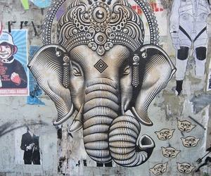art, Ganesha, and street art image