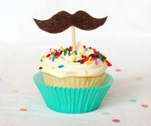 food, frosting, and mustache image