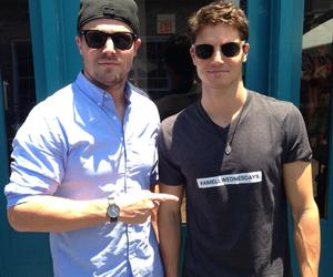 robbie amell, arrow, and stephen amell image