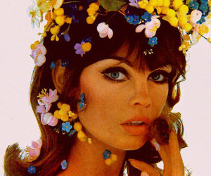 flowers, vintage, and jean shrimpton image