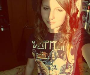 girl, led zeppelin, and rock image