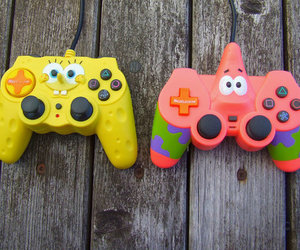 patrick, spongebob, and game image