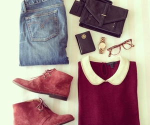 outfit, denim, and fashion image