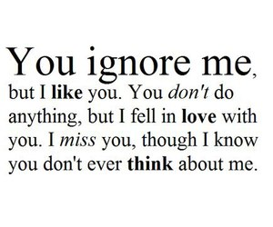 Although i love you so you dont know