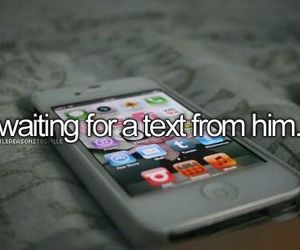 text, him, and iphone image