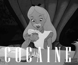 cocaine, alice, and drugs image
