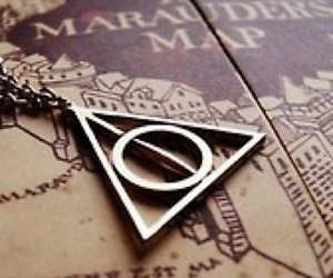 harry potter, deathly hallows, and marauders map image