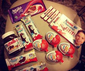 chocolate, nutella, and kinder image