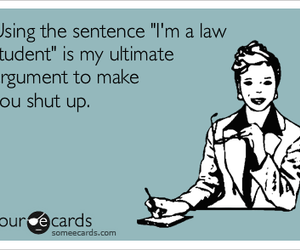 Law, student, and text image