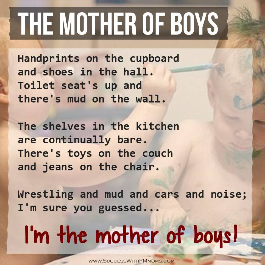 Here\'s to all mother of boys | via Facebook on We Heart It