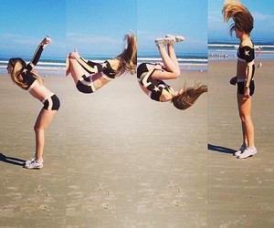 cheer, beach, and summer image