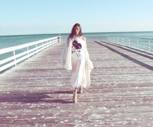 girl, wildfox, and beach image