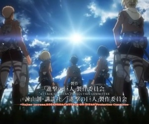 anime, opening, and attack on titan image