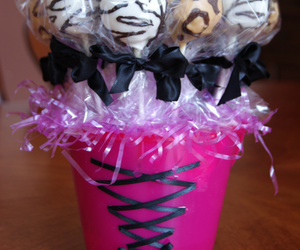 cake, cake pops, and pink image