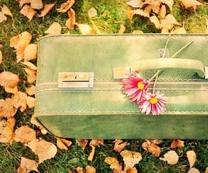 flowers, vintage, and bag image