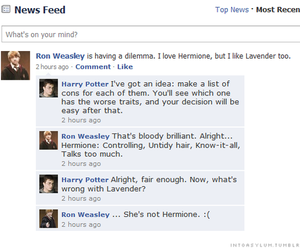 harry potter, love, and ron weasley image