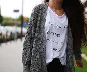 cardigan, Dream, and fashion image