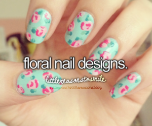 nails, floral, and design image