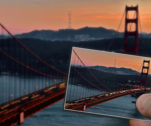 photography, bridge, and san francisco image