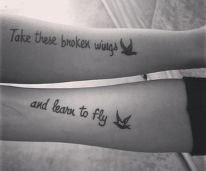 tattoo, fly, and wings image