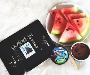 gossip girl, watermelon, and food image