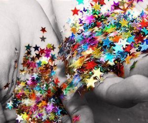 stars, colors, and hands image