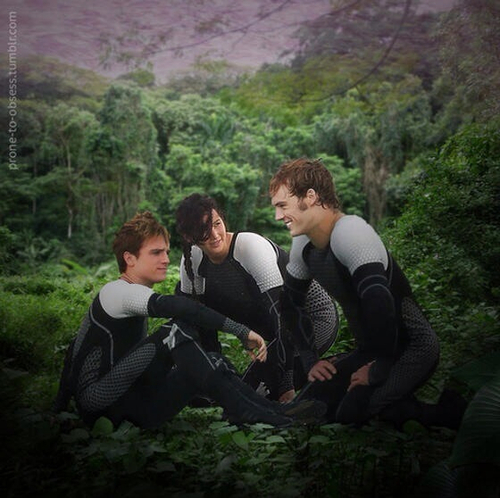 Peeta Katniss And Finnick Uploaded By The Girl On Fire