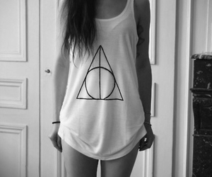 girl, harry potter, and deathly hallows image