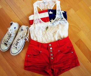red, outfit, and converse image