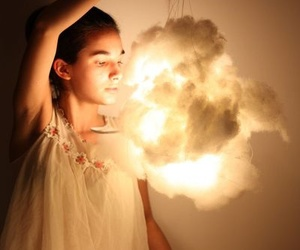 candle, cloud, and girl image
