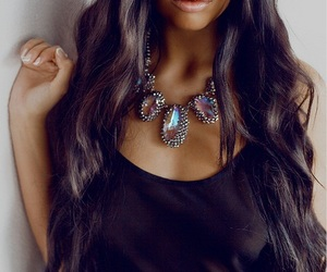 hair, necklace, and lips image