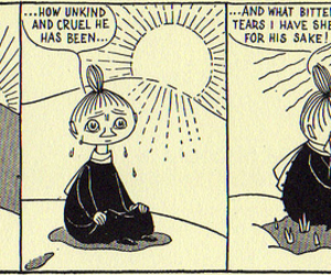 comic, cry, and moomin image