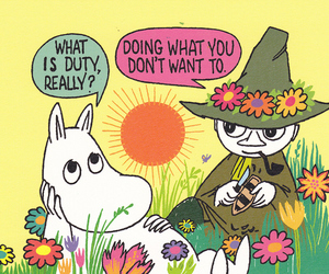 moomin, duty, and snufkin image