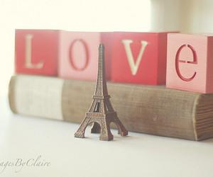 love, paris, and book image