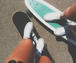summer, converse, and skate image