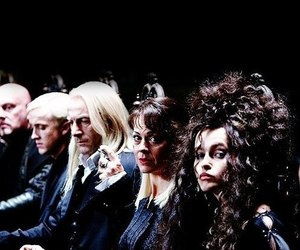 harry potter, malfoy, and bellatrix image