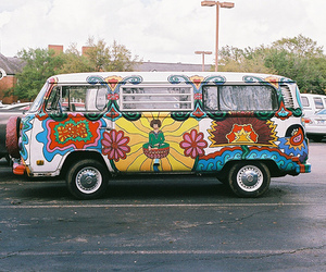 hippie, car, and vans image