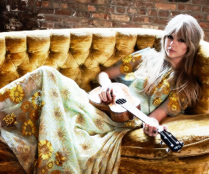 Taylor Swift, vogue, and guitar image