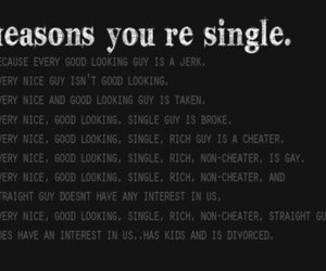 single, text, and reason image