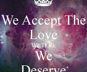 accept, deserve, and love image